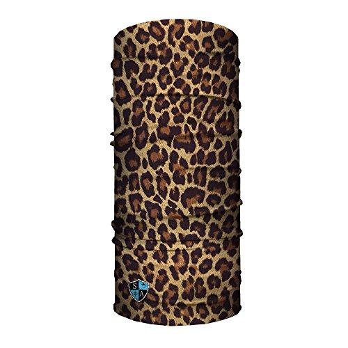 Sa Company USA Face Shield Halstuch Bandana Gesichts- Maske Mütze Multifunktionstuch, Face Shields:Cheetah Leoprint
