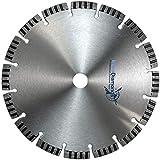 Profi Diamant Trennscheibe TURBO SUPERCUT 230 mm, universal für alle Baumaterialien, für Beton, Betonplatten, Pflastersteine, Mauerwerk, Stahlbeton, Moniereisen und für armierte Materialien