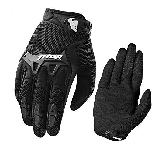 Warm your hands &World Guanti da Mountain Bike Full Finger Guanti Moto da Competizione all-in-One Fuoristrada, Nero M