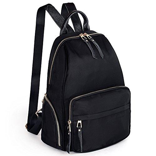 UTO 13.3 Inch Laptop Backpack Oxford wasserdicht Nylon Unisex Rucksack mit Leder Schulterriemen Schule College ()