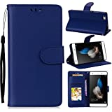 For Huawei P8 Lite 2017 Case, [Extra Card Slot] Danallc [Wallet Case] PU Leather TPU Casing Durable [Drop Protection] Case Compatible With Huawei P8 Lite 2017, Dark Blue