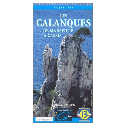 Carte de randonnée : Les Calanques, de Marseille à Cassis