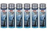 6 bombes spray gris pour jantes 500ml peinture auto carrosserie