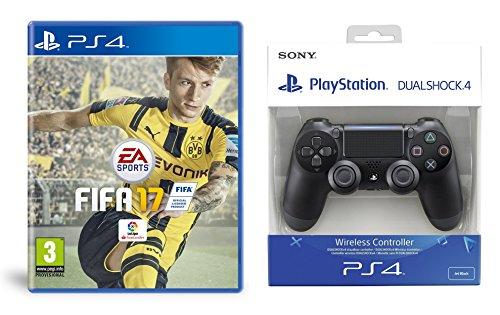 FIFA 17 - Standard Edition + DualShock 4 Negro V2 (PS4)