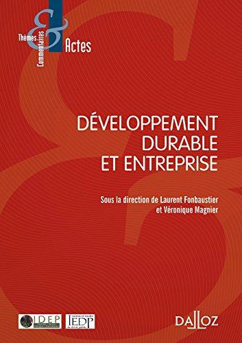Développement durable et entreprise par Laurent Fonbaustier