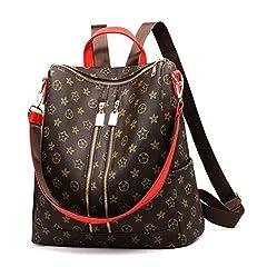 Idea Regalo - AllhqFashion Donna cerniere Borse di tela Moda Vacanze Borse a tracolla, FBUIBC182049, Rosso
