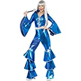 NET TOYS Abba Kostüm Damen 70er Jahre Outfit S 36/38 Disco Overall Schlager Damenkostüm Dancing Queen Jumpsuit Seventies Faschingskostüm