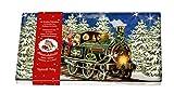 Nostalgische Weihnachtseisenbahn: Blechdose mit 24 Schokotäfelchen