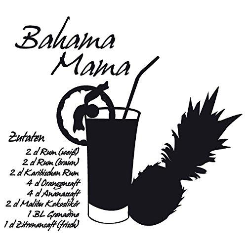 Wadeco Bahama Mama Wandtattoo Wandsticker Wandaufkleber 35 Farben verschiedene Größen, 120cm x 108cm, violett