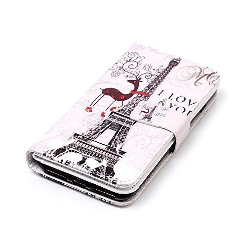 Cover iPhone 7 Plus, Custodia iPhone 8 Plus a Libro, Flip Portafoglio Cover in Pelle + Bumper Custodia in Silicone TPU Morbido, Surakey Elegante Full Body Protezione Posteriore iPhone 7 Plus Custodia  Torre