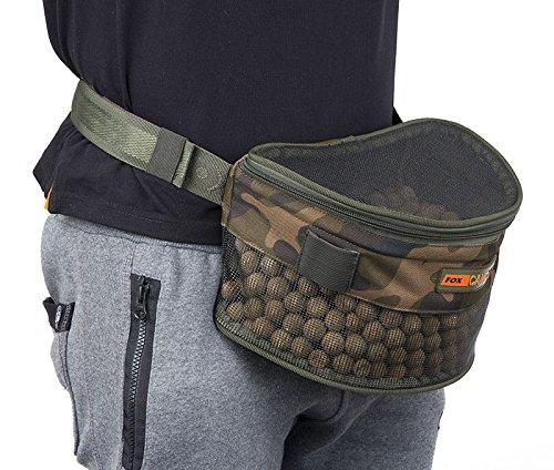 Fox Camolite Boilie bum bag Large - Ködertasche für Boilies & Pellets, Boilietasche zum Karpfenangeln, Angeltasche zum Anfüttern (Fur Fox Bag)