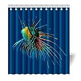 Violetpos Duschvorhang Fisch Aquarell Blau Hochwertige Qualität Badezimmer 180 x 180 cm