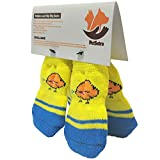 #1: PetSutra Anti Slip Dog Socks with Rubber Grippers & Soft Knitting, Color May Vary (Small)