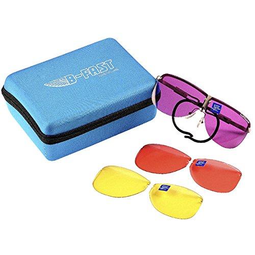 CASTELLANI B-FAST montatura per occhiali da TIRO + 3 lenti INTERCAMBIABILI