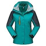 Damen Herren Softshelljacke 3 in 1 Funktionsjacke Wasserdicht Atmungsaktiv Outdoor Trekking Jacke Skijacke