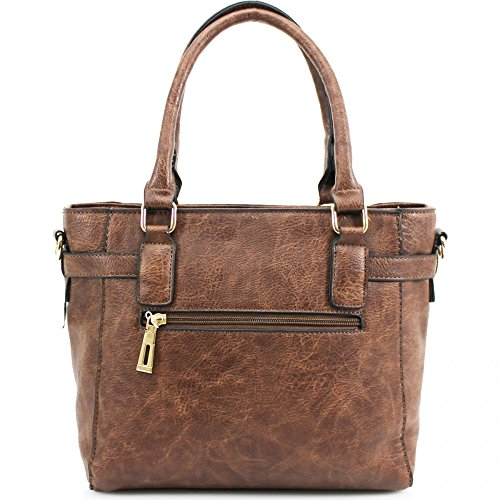 Leahward® Ladies Fashion Bag Ladies Food Celebrity Tote Handbag Zipper Food Medium-small Size Qualità Ecopelle Borse Regalo Cwrm150967 Cwrb160120 Nero H41cm X W34cm X D12cm