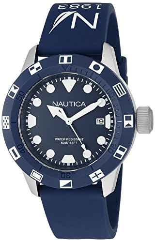 Nautica Unisex NAD09511G NSR 100 FLAG Analog Display Quartz Blue Watch