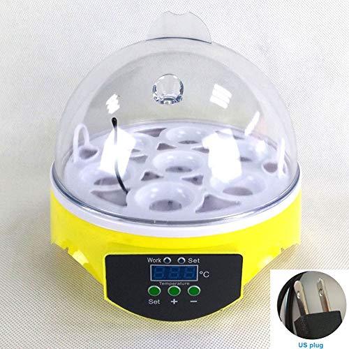 szyzl88 Automatico Uovo Incubatrice 7 Uova Tornitura Controllo Temperatura Mini Pollame Hatcher per Polli Anatre Oca Uccelli (US) - Come Foto, us