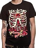 Rick et Morty Hommes T-shirt en coton noir Anatomy Parc - XXL