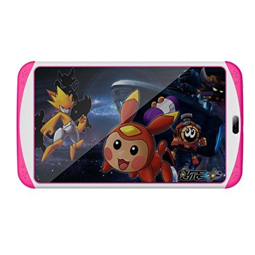 samlike Tablet, 7pollici Quad Core HD Tablet per bambini Android 4.4KitKat Dual Camera WiFi Bluetooth rosa Pink