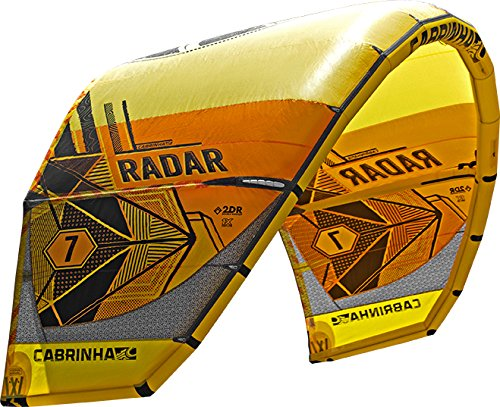 cabrinha Radar Kite 2017–Naranja/Amarillo–5m²