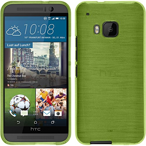 PhoneNatic Custodia HTC One M9 Cover verde pastello brushed One M9 in silicone + pellicola protettiva