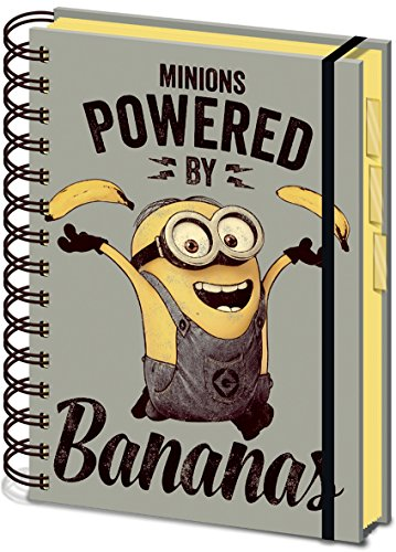"Image of Despicable Me SR71861 ""Minions Powered by Bananas"" A5 project Notebook"