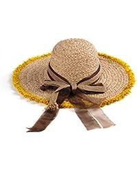 GSAYDNEE Gorra de Playa Transpirable para Mujer con Sombreros de Paja y  protección Solar Fresca con fc27c0b5cb0