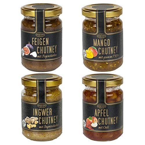 Chutneys (Feige, Mango, Ingwer, Apfel)