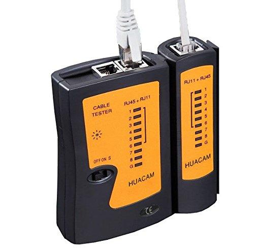 HUACAM HNK15 Netzwerktester Kabeltester Netzwerk Patchkabel Tester Prüfer Testgerät Leitungstester für RJ45 RJ11-Kabel RJ12 CAT5 UTP CAT 6 Cat 6 Netzwerk-tester