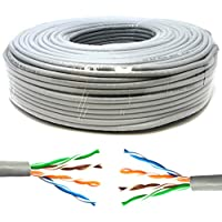 Mr. Tronic 50 Metros Cable de Instalación Red Ethernet Bobina 50m | CAT5e, AWG24