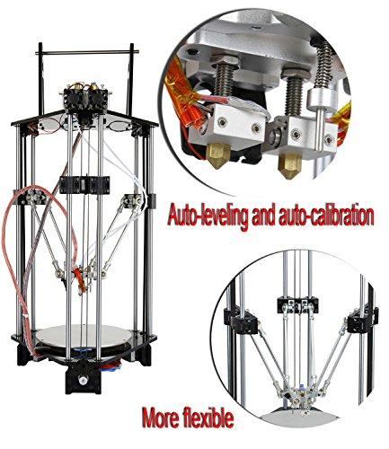 ridgeyard-220v-geeetech-kossel-delta-rostock-3d-printer-diy-kit-g2s-dual-extruder-lcd-control-panel