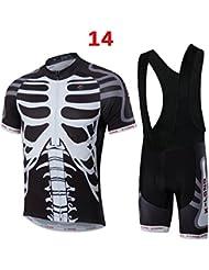 La bici de ciclo Jersey del equipo de la bicicleta ropa camisas de hombre Pantalones cortos desgaste fijan MC007