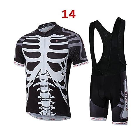 Des Menschen Radfahren Fahrrad Team-Bekleidung Jersey Shirts kurze Hosen Set MC007