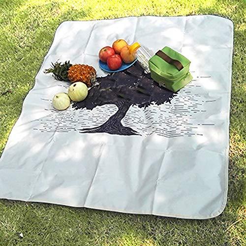LPC Outdoor-Picknick-Matte Strandmatte Wasserdicht Und Feuchtigkeitsfest Bedrucken Einseitig Seide Campingmatte Warm halten -