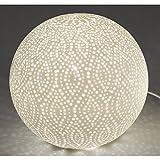 Formano Kugellampe, Leuchte Swing Punkte D. 21cm Keramik weiß