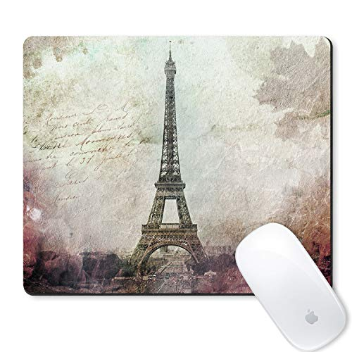 galdas Gaming Mauspad Paris Eiffelturm Vintage Design Mauspad rutschfeste Gummi-Mauspad Rechteck Maus Pads für Computer Laptop