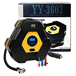 Digital Tyre Inflator,12v Air Compressor Tyre Pump,portable Auto Electric Tyre Pump,4.5 Min Tyre Inflation, Led Light(digital)