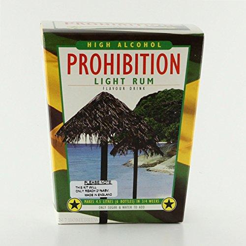 Prohibition Licht Rum Hoch Alkohol Likör Kit macht 4,5 L 21% ABV - 1 Gallone Licht