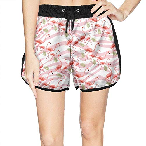 Eco Track Pant (Womens Swim Trunks Pants Pink Flamingo Beach Board Shorts Large)