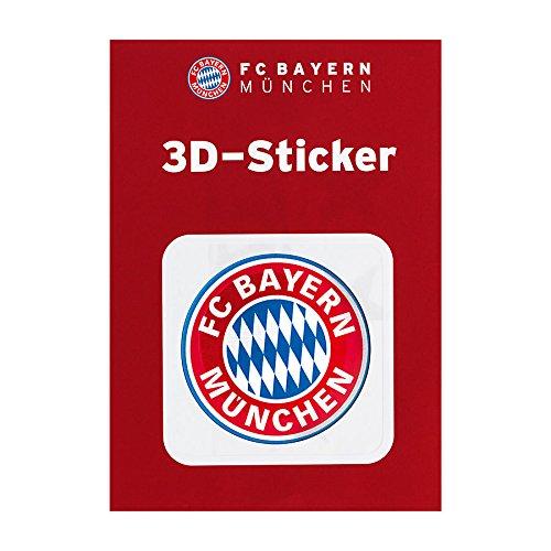 FC Bayern München Autoaufkleber / Sticker / Aufkleber 3D Logo rot FCB - plus gratis Aufkleber forever München