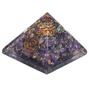 Orgonite Pyramide, Energetische Energie Generator Gravur (ca. 2,5cm jedes) Wunderschön als Geschenk verpackt