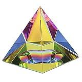BTSKY Kristall-Pyramide, schillernd, mit Geschenk-Box, in Regenbogenfarben, Dekoration fürs Büro zu Hause, 3.9inch