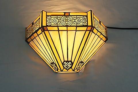 12 pouces Vintage pastorale Stained Glass Tiffany Applique Couloir Applique murale Lampe Mobilier