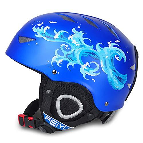 OOFAYHD Neue Kinderski Helme Herren-und Damen-Snowboardsport Outdoor-Geräte Kopf Helm,A,S