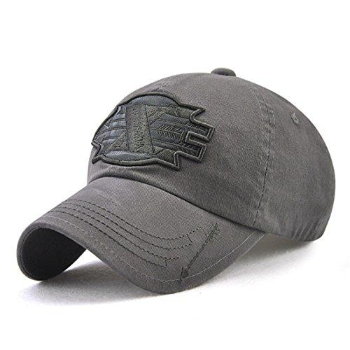 Roffatide Herren Pfeile Patch Stickerei Schirmmütze Kappe Baseballmütze Einstellbar Grau (Hut Fitted Armee Camo)