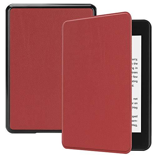 Wokee Schutzhülle für Amazon Kindle Paperwhite 6 Zoll 10. Gen 2018, Amazon Kindle Hülle mit Auto Sleep/Wake Funktion Dünnste Leichteste,10 Farben (Wein) -