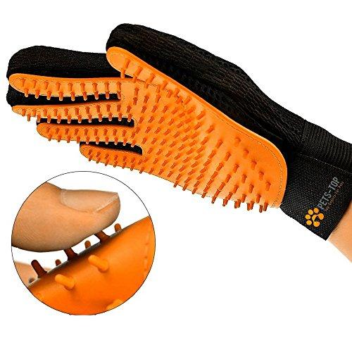 [Gute Qualität] Grooming handschuh Gesicht Spitzhämmer Silikon Bürsten und Gesicht Samt Anti Haare Textilien | 3 in 1 | Hund und Katze One PETS-TOP  (3-zoll-haar-bürste)