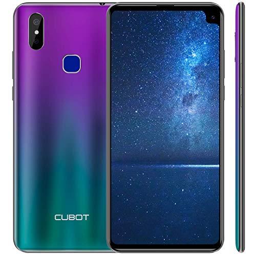 CUBOT MAX2 2019 Smartphone Libre 4G 6.8' 19:9 Full-Screen 5000mAh Octa-Core Android 9.0 4GB RAM 64GB ROM Dual SIM, Cámara Sony IMX486 12Mp+2Mp Sensor de Huella GPS Giroscopio Cable Type C Azul