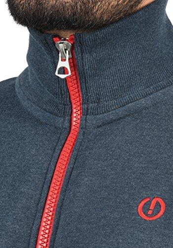 SOLID BennTrack Herren Sweatjacke Zip-Jacke mit Stehkragen aus hochwertiger Baumwollmischung Meliert Insignia Blue Melange (8991)